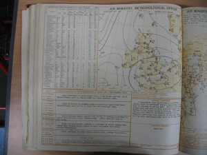 The synoptic chart from the Air Ministry (forerunner of the Met Office) for Monday, August 21, 1939