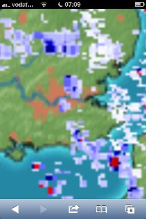 This image by MeteoX shows the storm right over Wanstead