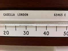 The thermometer inside my Stevenson screen read 33.8C - hotter than Heathrow - though short of what the AWS said - 34C