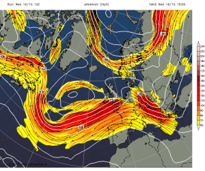 The jet stream is centred over us