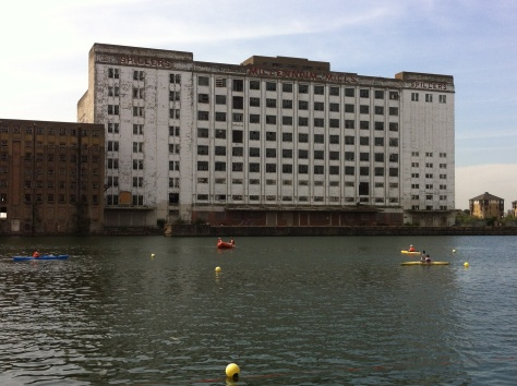 Spillers Millennium Mill was repainted 25 years ago especially for the concert. It now provides the backdrop for the London Triathlon across from the ExCeL centre