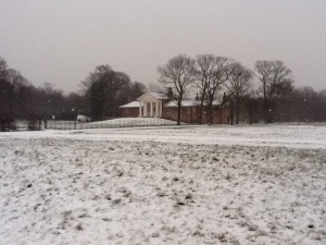 The Temple, Wanstead Park, always looks that much more stunning with a covering of snow