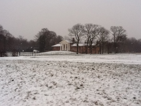 The Temple, Wanstead Park, always looks that much stunning with a covering of snow