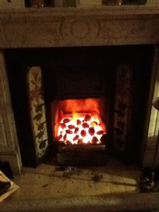 There's nothing like an open coal fire. It's even better when it is cold enough outside to have one