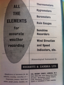 This advert, in an old HMSO Observer's Handbook, gives a no-nonsense list of what you'll find at No.122 Regent Street