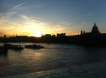 Sunset from Southwark Bridge overlooking St Paul's Cathedral by WansteadMeteo