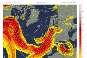 The jetstream has been virtually ever present over the UK this winter, driving depression after depression over our isles