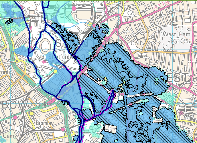 Environment Agency Flood Map For Planning When the River Lea was a mile wide | Wanstead Meteo Environment Agency Flood Map For Planning
