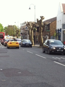 Plane ugly: the harshly pollard planes in Wanstead High Street