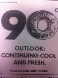 Polo advert for the heatwave that coincided with the  Queen Mother's birthday in 1990