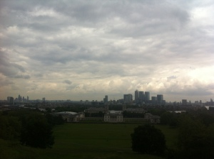 View from Greenwich Observatory toward the Royal Naval College