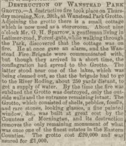 An account of the fire appeared in the November 29th edition of the Essex Newsman