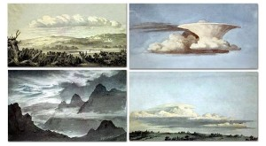 A selection of sketches Luke Howard used to illustrate his Clouds lecture