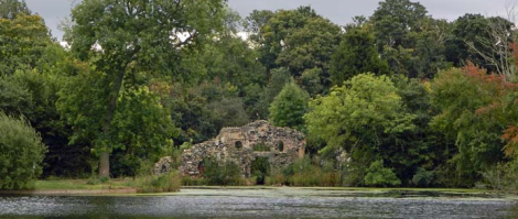 The Grotto seen from across the Ornamental Water