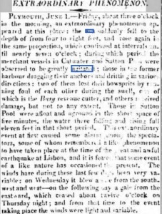 The 'Extraordinary Phenomenon' reported in the Morning Post, Wednesday, June 5, 1811