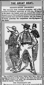 On its front page on Saturday, August 19th, The Yorkshire Evening Post featured a prominent sketch of a City gent Picture courtesy of the British Newspaper Archive