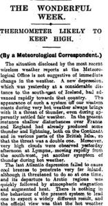 1923 heatwave