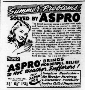 aspro heatwave ad Yorkshire Post and Leeds Intelligencer - Wednesday 13 August 1947