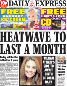 The Daily Express has flagged up ridiculous weather stories so often that it is now beyond parody