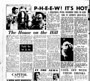 A report on life in the heatwave published on July 5th 1952 Image courtesy of the British Newspaper Archive