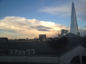 May 19th was a very thundery day across eastern England. This picture was taken looking east from Southwark