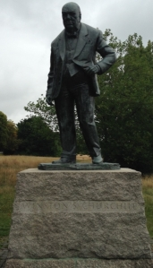 The Churchill statue at Woodford Green