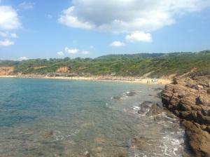 One of the many stunning beaches on Skiathos. This bay is close to Mandraki