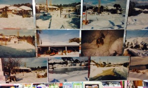 In a shop close to Koukounaries beach I noticed this selection of snowy pictures that were taken on the island a few years ago. Being north of Athens it is not surprising that they occasionally see snow here