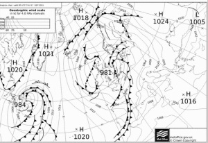 This chart shows the low pressure system that brought September wettest day for this area