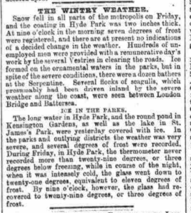 This small article appeared on the front page of Reynold's Newspaper in November 1890