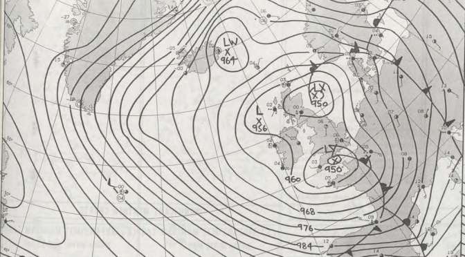 Record low pressure of February 25th 1989