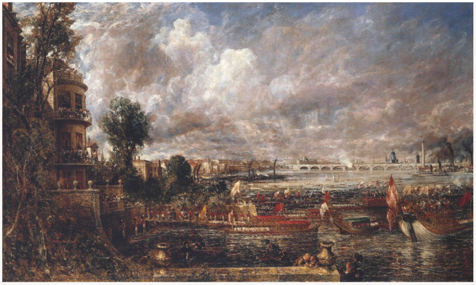 Constable's fair view of Waterloo Bridge