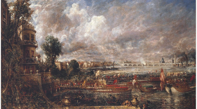 Constable's fair view of Waterloo Bridge