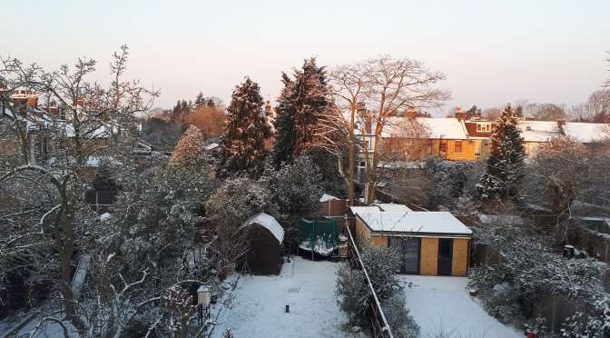 February 2018: cold, very sunny, snowy end