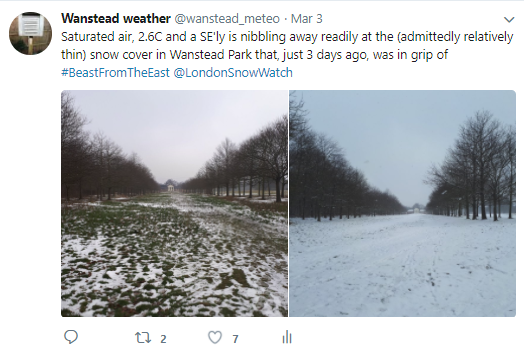 March 2018: cold, some snow and very dull