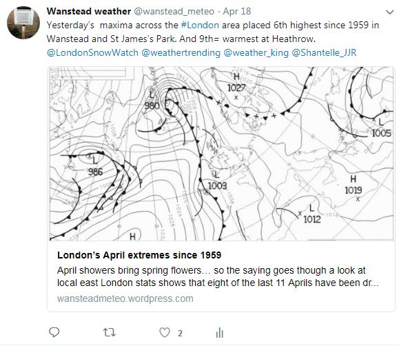 18th warmest