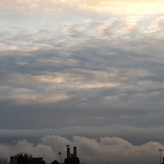 Taken on 11/11/2017 at 1600 as a cold front cleared I managed to capture the remnants of a Kelvin-Helmholtz cloud
